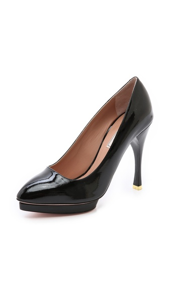 Nina Ricci Patent Platform Pumps - Black at Shopbop / East Dane
