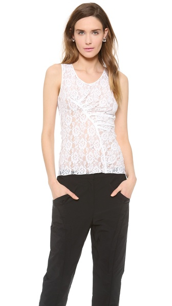 Nina Ricci Sleeveless Lace Top