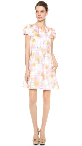 Nina Ricci Puff Sleeve Dress