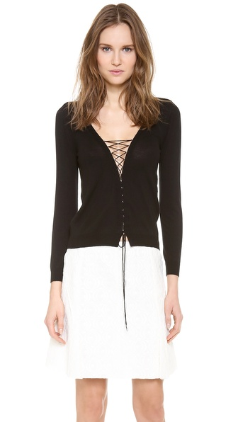 Nina Ricci Lace Up Cardigan