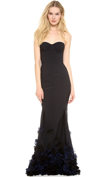 Nina Ricci Strapless Gown