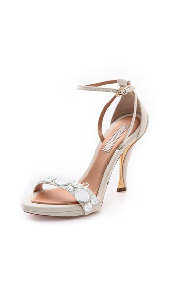 Nina Ricci White Wedged Sandals