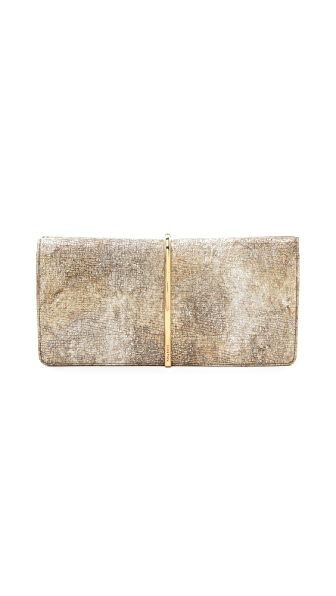 Nina Ricci Metallic Leather Clutch
