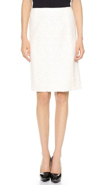 Nina Ricci Soft Lace Pencil Skirt