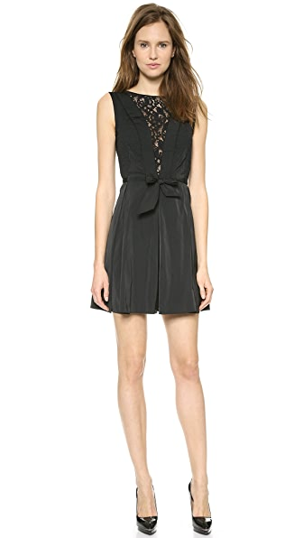 Nina Ricci Nina Ricci Taffeta Bow Dress (Black)
