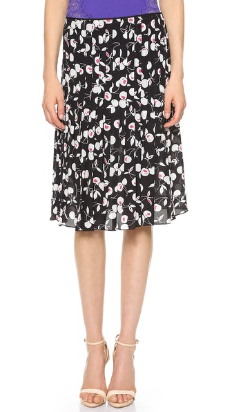 Nina Ricci Pleated Print Skirt