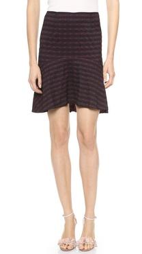 Nina Ricci Plaid Jacquard Skirt