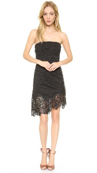 Nina Ricci Strapless Lace Dress