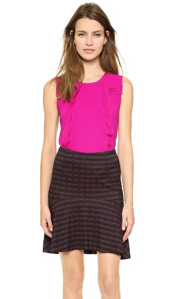 Nina Ricci Sleeveless Pleat Top