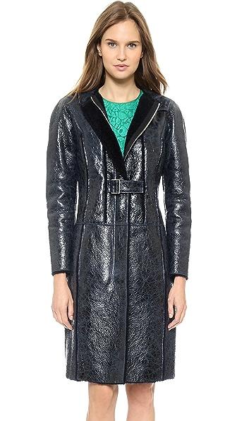 Nina Ricci Long Shearling Coat