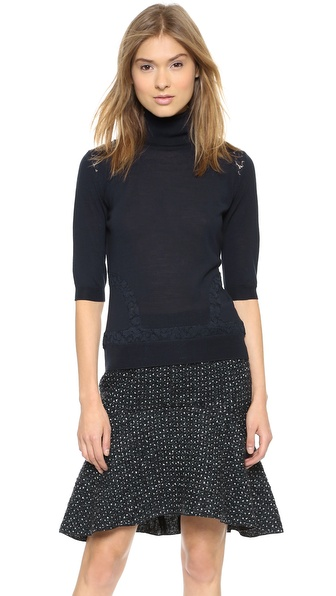 Nina Ricci Short Sleeve Pullover Sweater
