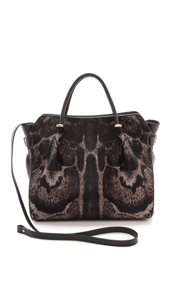 Nina Ricci Haircalf & Leather Handbag