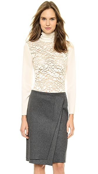 Nina Ricci Lace Panel Blouse
