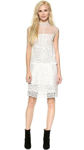 Shop Nina Ricci online and buy Nina Ricci Lace Dress Natural dresses online