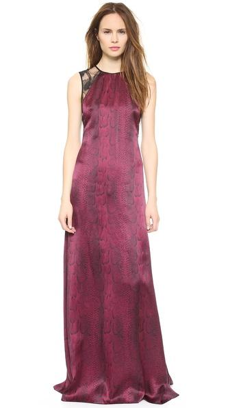 Kupi Nina Ricci haljinu online i raspordaja za kupiti Nina Ricci Snake Print Gown Bordeaux online