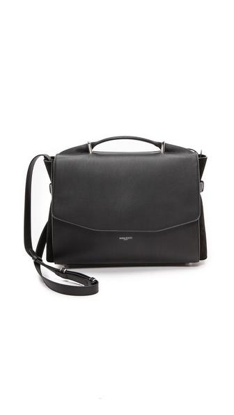Nina Ricci Leather & Suede Satchel