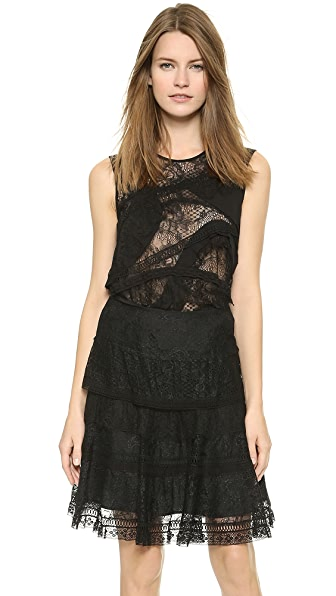 Nina Ricci Nina Ricci Sleeveless Lace Top (Black)
