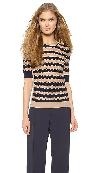 Пуловер в полоску Nina Ricci. Цвет: marine fonce