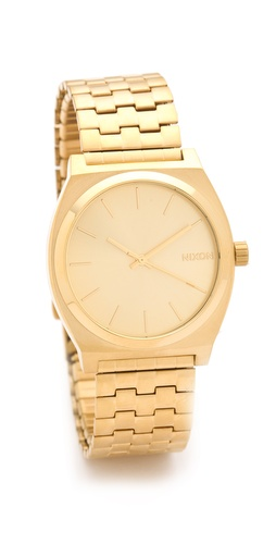 Nixon Oversized Time Teller All Gold Watch