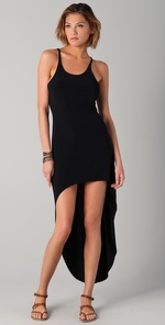 Norma Kamali Racer Super High/Low Dress