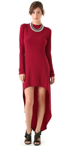 Norma Kamali Super High Low Dress