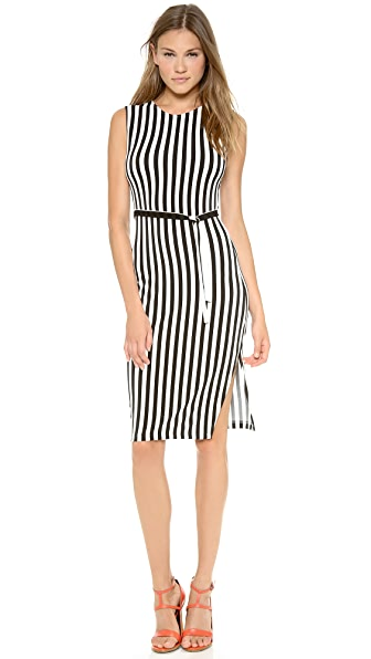 Norma Kamali Kamali Kulture Stripe Shift Dress