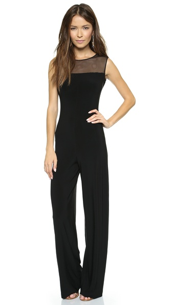 Norma Kamali Kamali Kulture Sleeveless Jumpsuit with Mesh