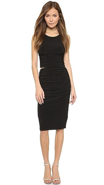 Kupi Norma Kamali haljinu online i raspordaja za kupiti Norma Kamali Kamali Kulture Ruched Dress - Black online