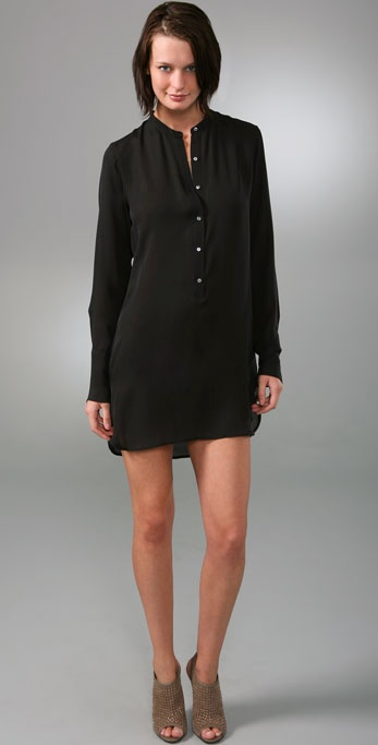 Nili Lotan Silk Shirtdress
