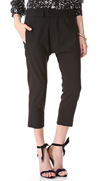Nili Lotan Bias Cropped Pants