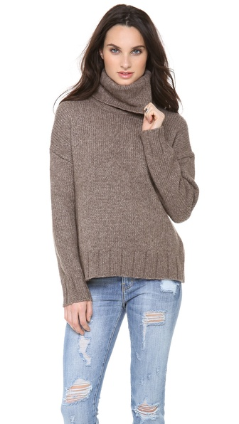Nili Lotan Oversized Turtleneck Sweater