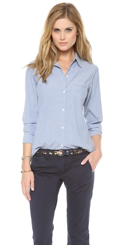 Nili Lotan Novelty Chambray Stripe Shirt at Shopbop / East Dane