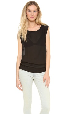 Nili Lotan Sleeveless Georgette Top