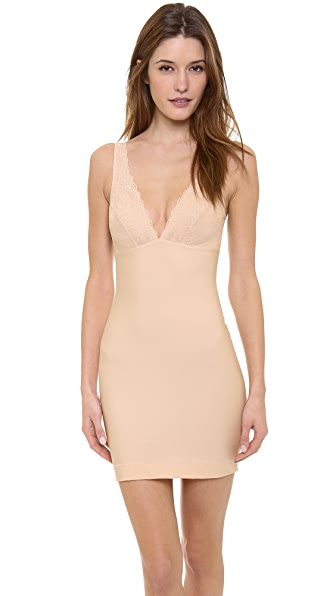 Nearly Nude Thinvisible Firming Slip with Lace