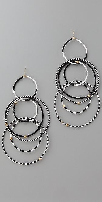 Noir Jewelry Beaded Multi Hoop Earrings