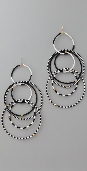 Noir Jewelry Beaded Multi Hoop Earrings