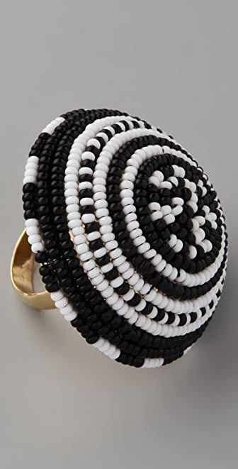 Noir Jewelry Beaded Cocktail Ring