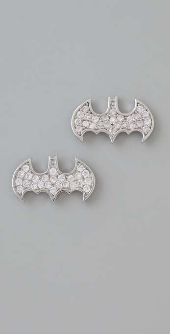 Noir Jewelry nOir for DC Comics Batgirl Stud Earrings
