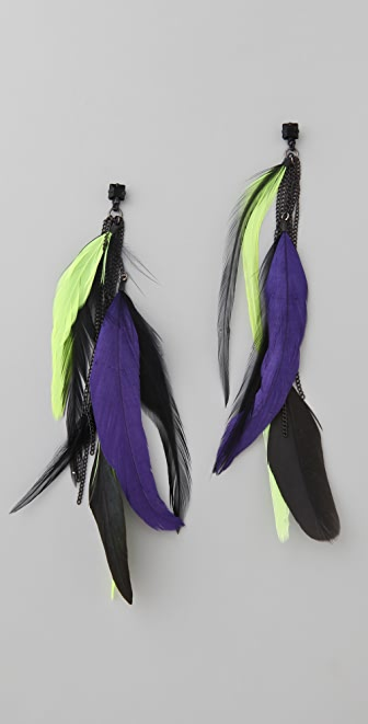 Noir Jewelry Feather Earrings