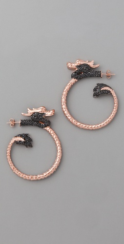 Noir Jewelry Dragon Earrings