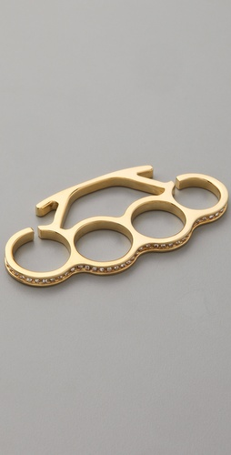 Noir Jewelry Brass Knuckles with Pave
