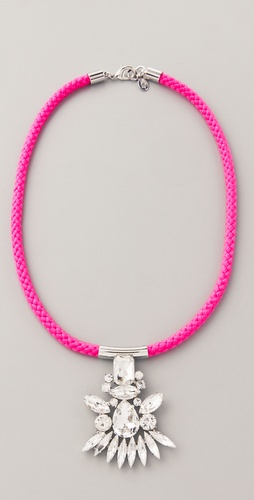 Noir Jewelry Neon Crystal Pendant Necklace
