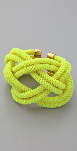 Noir Jewelry Shaka Neon Knot Bracelet