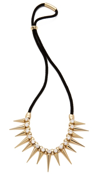 Noir Jewelry Noir for L.A.M.B. Long Spikes Necklace