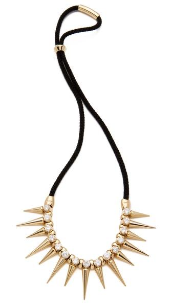 Noir Jewelry Noir for L.A.M.B. Long Spikes Necklace
