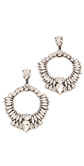 Noir Jewelry Nightfall Crystal Wreath Earrings