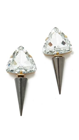 Noir Jewelry Spike Drop Earrings