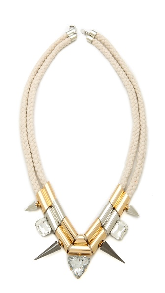 Noir Jewelry Natural Rope Station Necklace