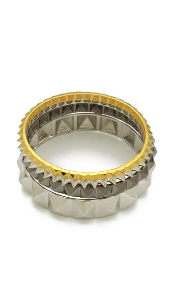 Noir Jewelry Studded Bangle Set