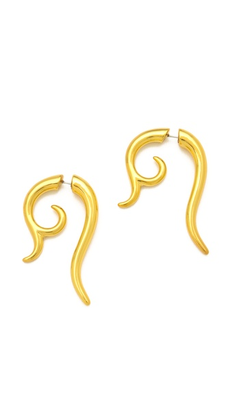 Noir Jewelry Smooth Swirl Earrings